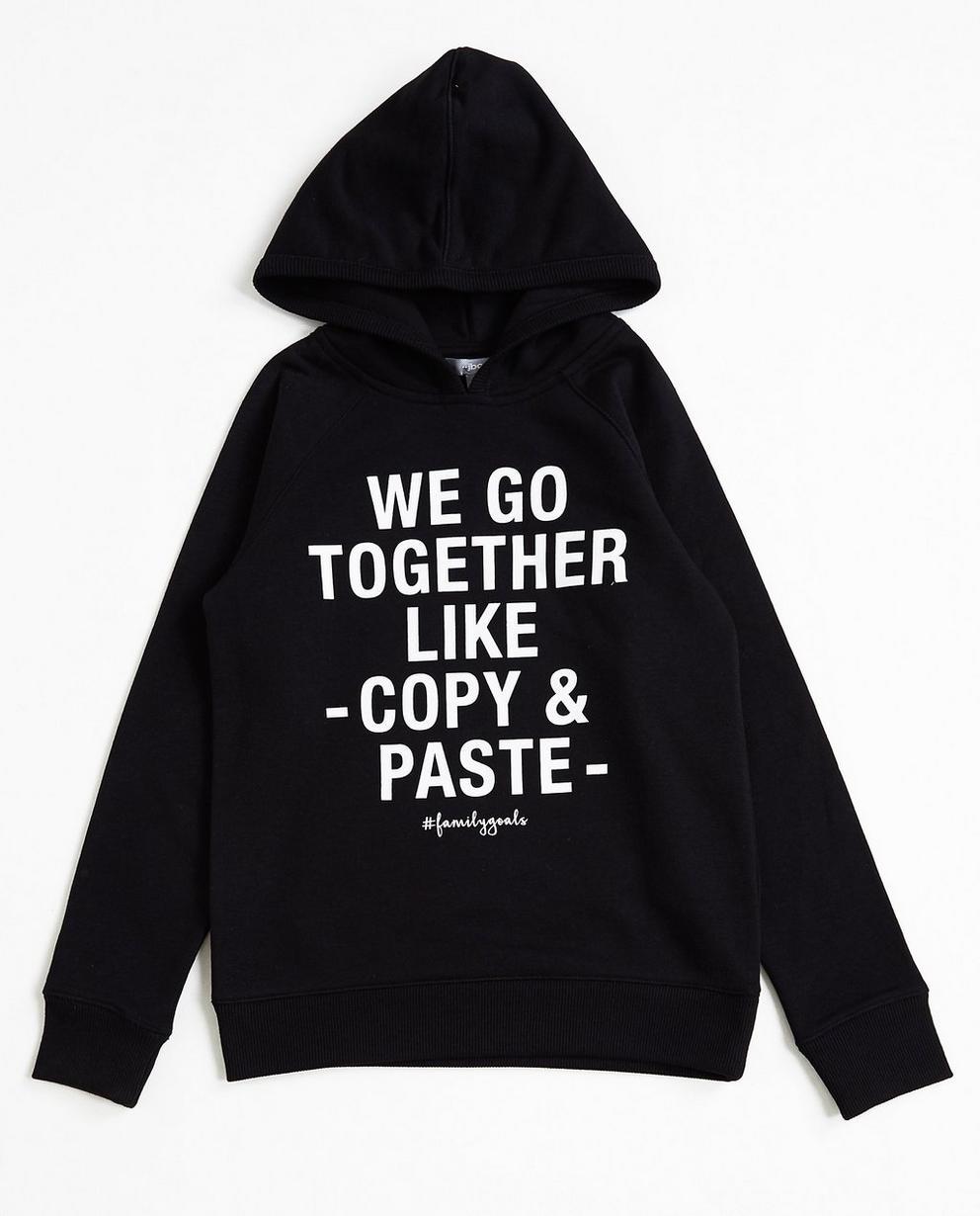 Zwarte statement hoodie - #familystoriesjbc - JBC